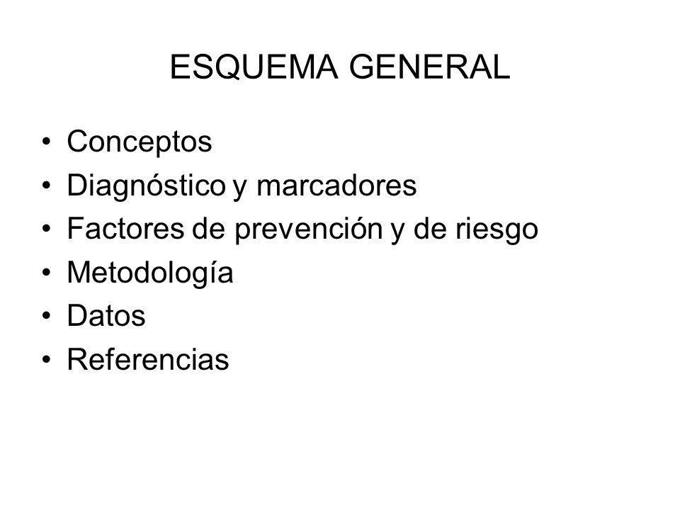 ESQUEMA GENERAL Conceptos Diagnóstico y marcadores