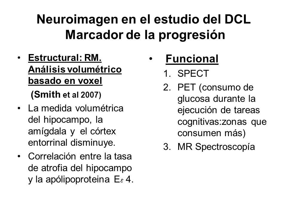 Neuroimagen en el estudio del DCL Marcador de la progresión