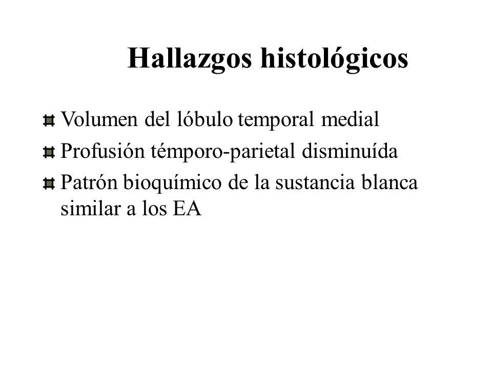 Hallazgos histológicos