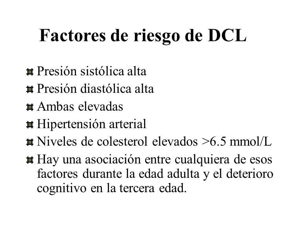Factores de riesgo de DCL