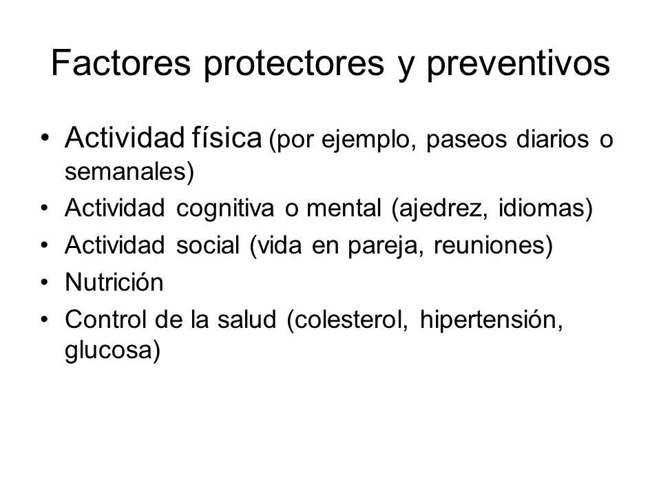 Factores protectores y preventivos