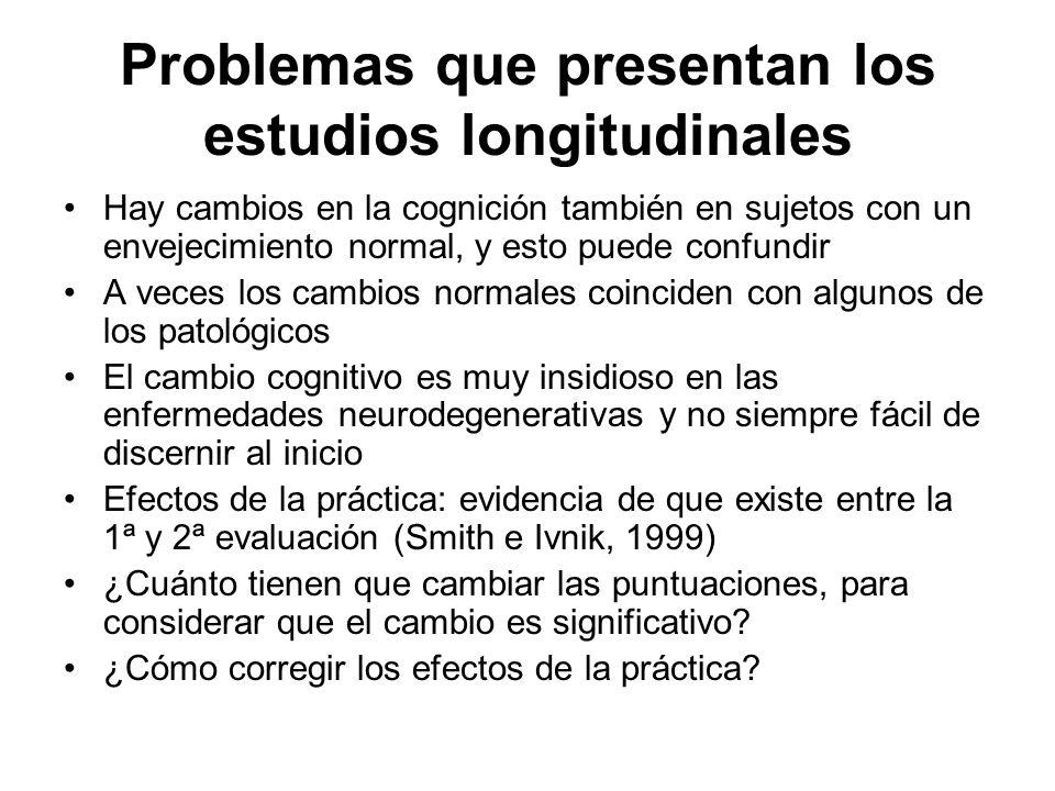 Problemas que presentan los estudios longitudinales