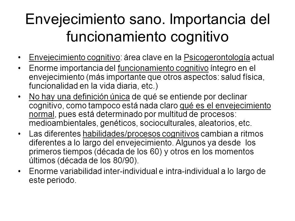 Envejecimiento sano. Importancia del funcionamiento cognitivo
