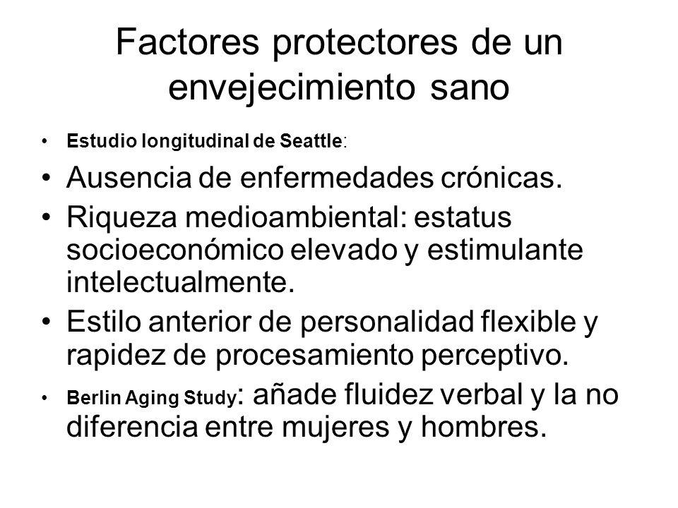 Factores protectores de un envejecimiento sano