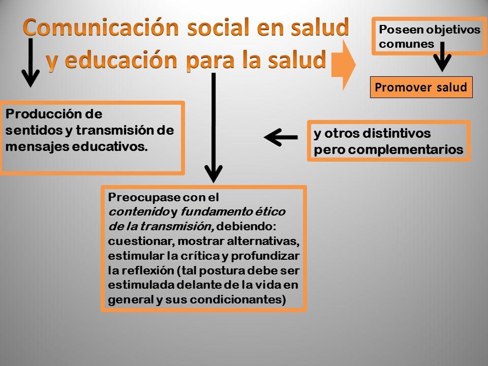 Comunicación social en salud y educación para la salud