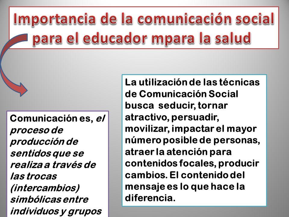 Importancia de la comunicación social para el educador mpara la salud