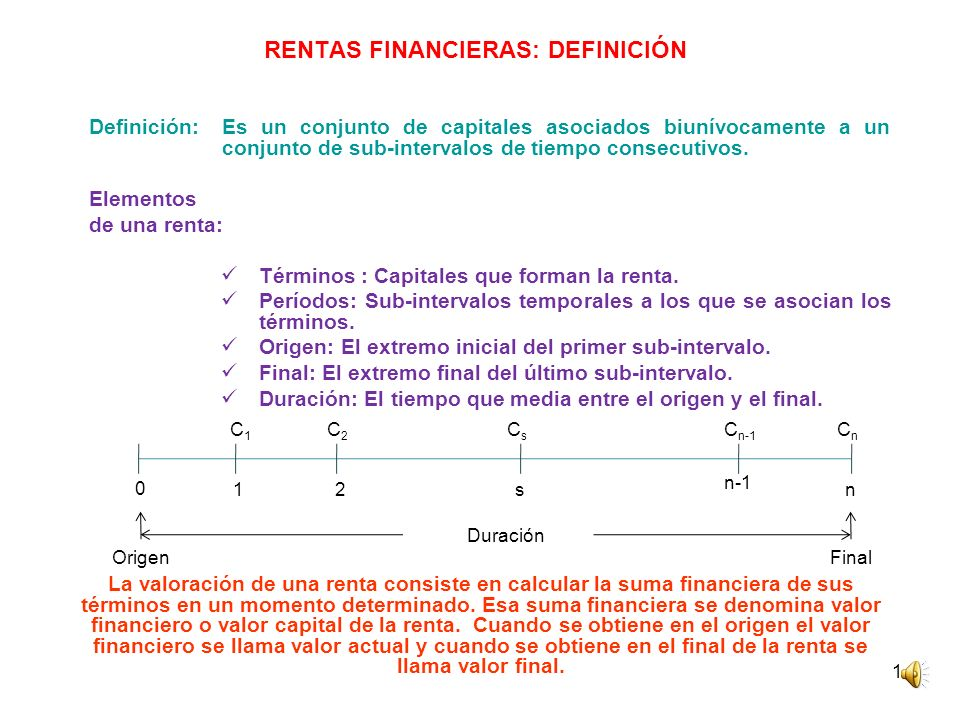 RENTAS FINANCIERAS: DEFINICIÓN