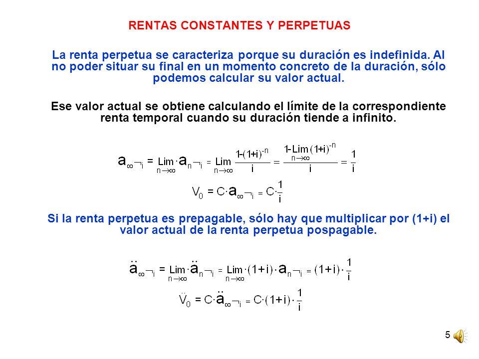 RENTAS CONSTANTES Y PERPETUAS