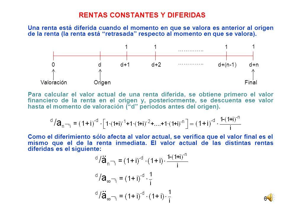 RENTAS CONSTANTES Y DIFERIDAS
