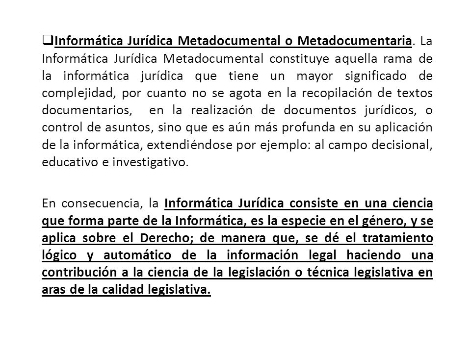 Informática Jurídica Metadocumental o Metadocumentaria