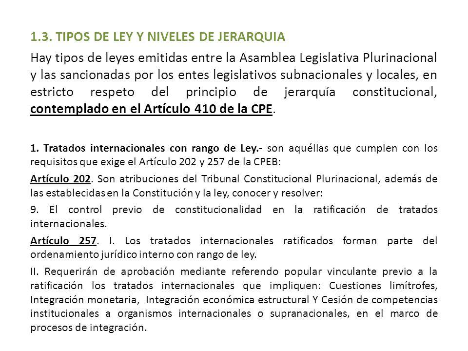 1.3. TIPOS DE LEY Y NIVELES DE JERARQUIA
