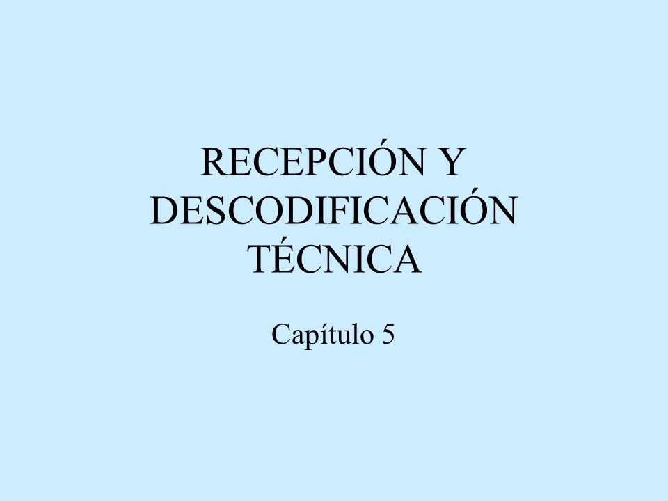RECEPCIÓN Y DESCODIFICACIÓN TÉCNICA