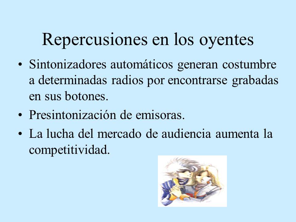 Repercusiones en los oyentes