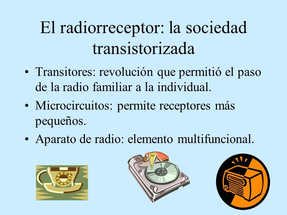 El radiorreceptor: la sociedad transistorizada