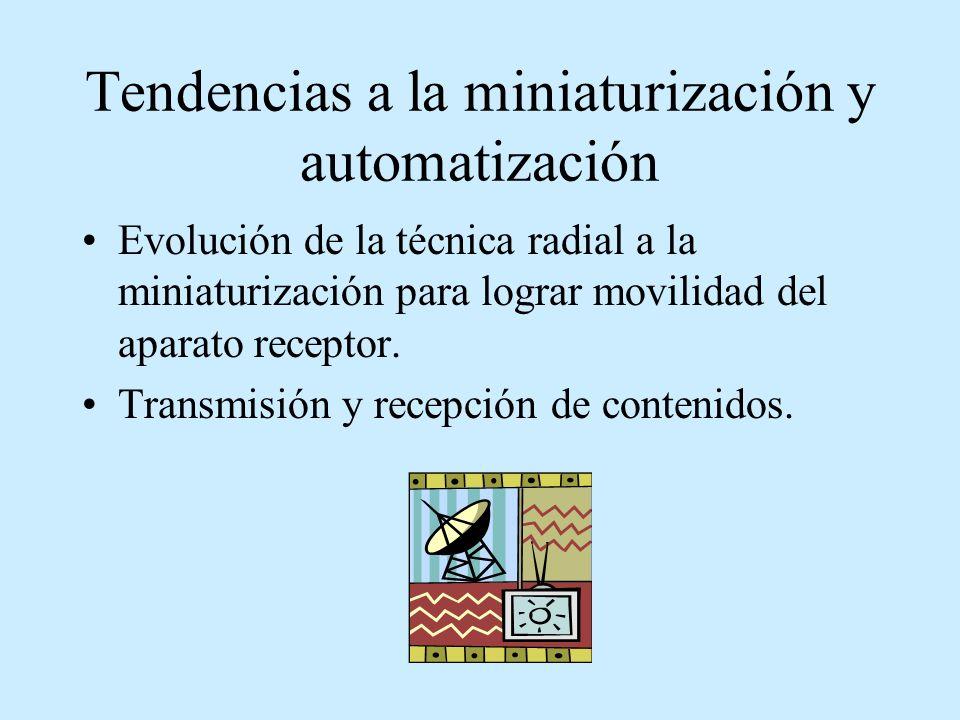 Tendencias a la miniaturización y automatización