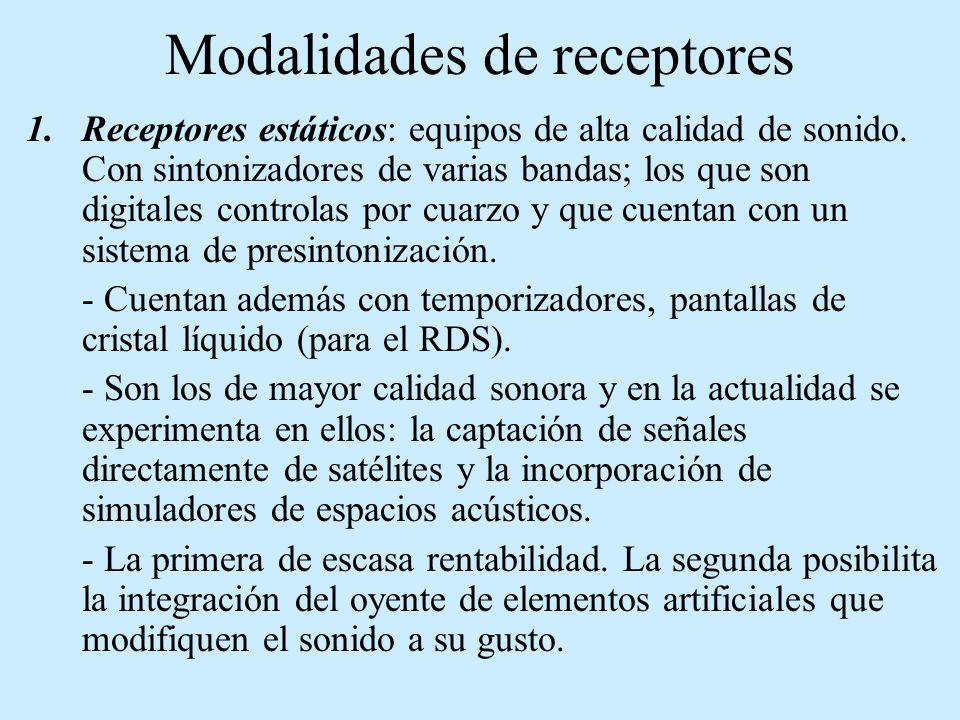 Modalidades de receptores