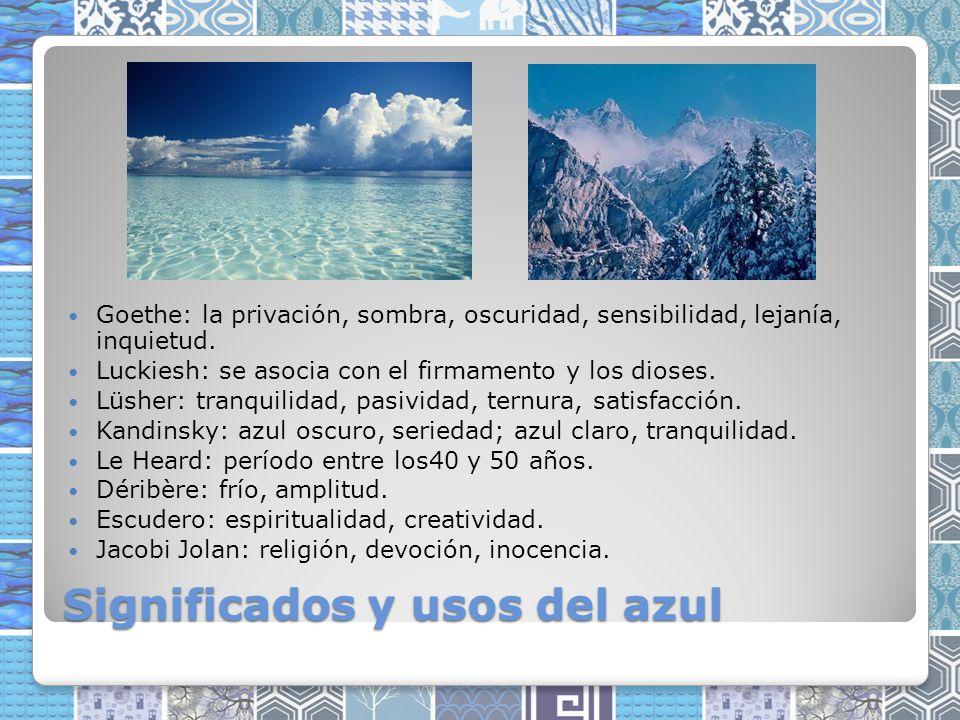 Significados y usos del azul