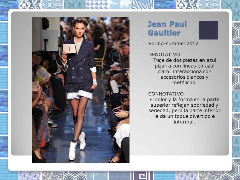Jean Paul Gaultier Spring-summer 2012 DENOTATIVO