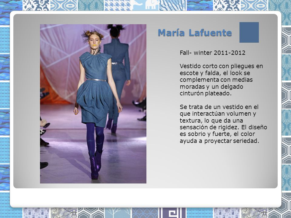María Lafuente Fall- winter 2011-2012