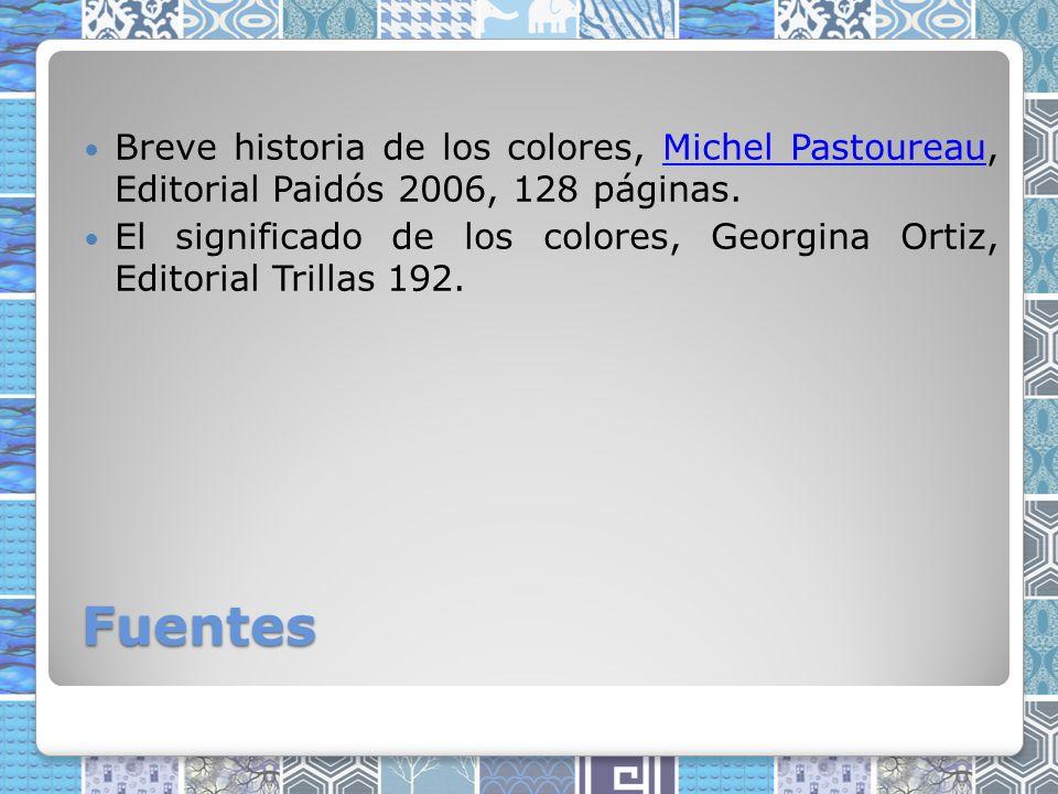 Breve historia de los colores, Michel Pastoureau, Editorial Paidós 2006, 128 páginas.