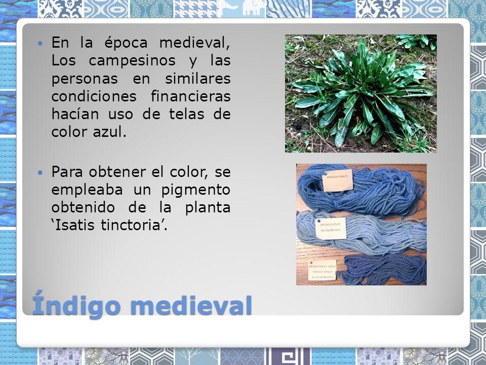 En la época medieval, Los campesinos y las personas en similares condiciones financieras hacían uso de telas de color azul.