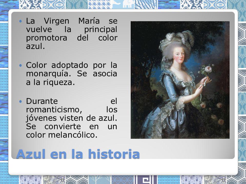 La Virgen María se vuelve la principal promotora del color azul.