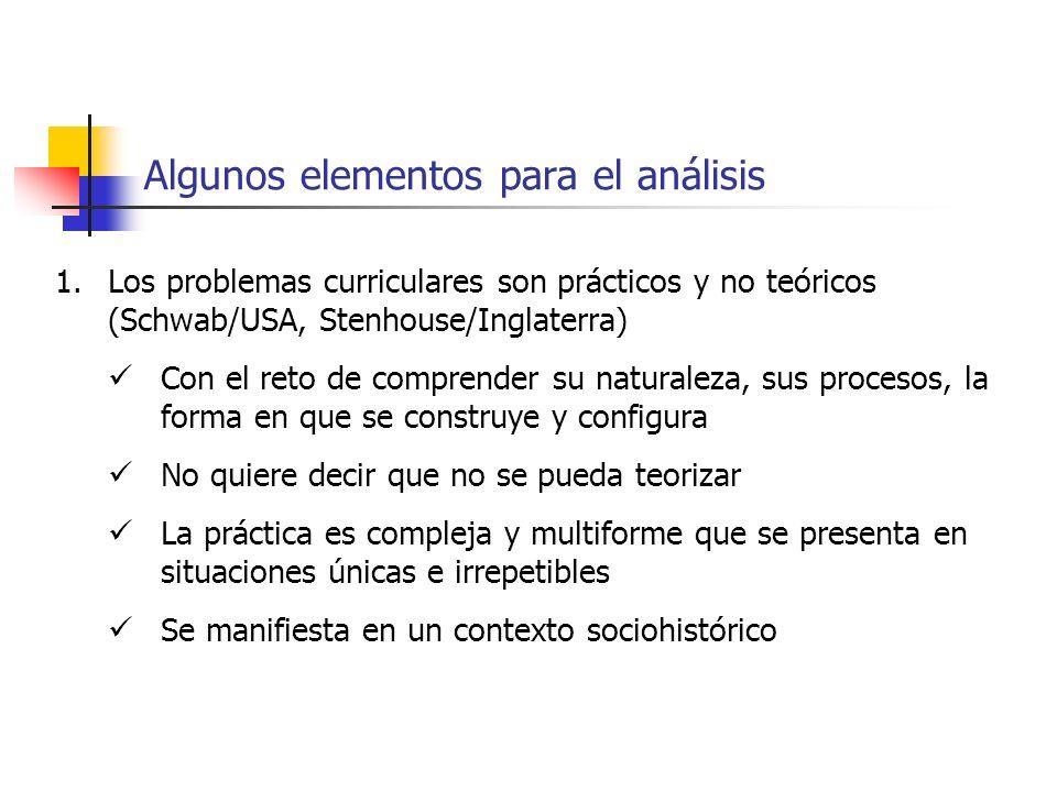 Algunos elementos para el análisis
