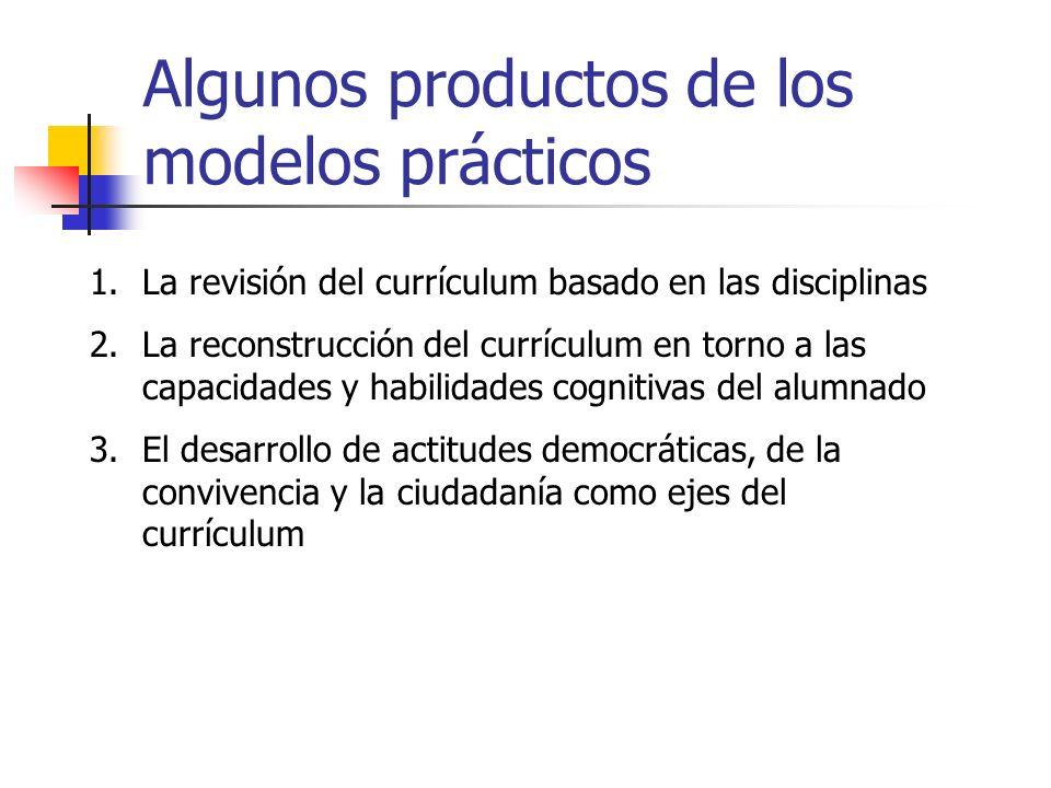 Algunos productos de los modelos prácticos