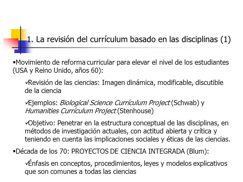 1. La revisión del currículum basado en las disciplinas (1)