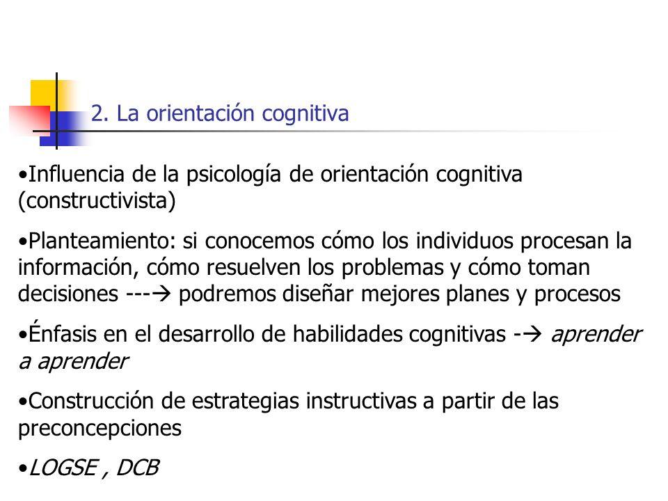 2. La orientación cognitiva