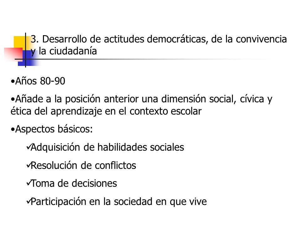 3. Desarrollo de actitudes democráticas, de la convivencia y la ciudadanía