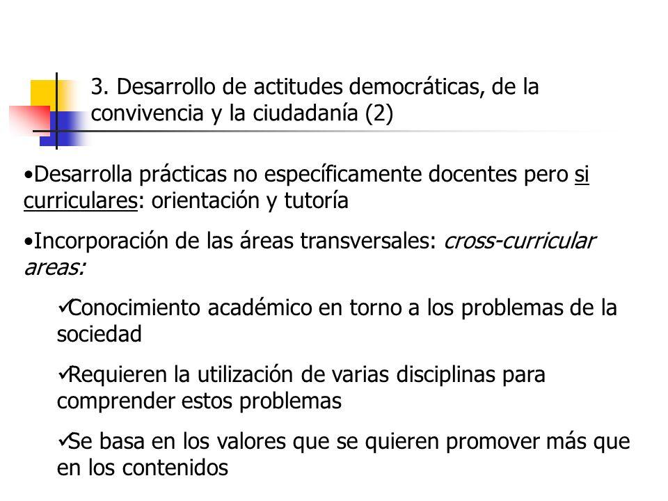 3. Desarrollo de actitudes democráticas, de la convivencia y la ciudadanía (2)