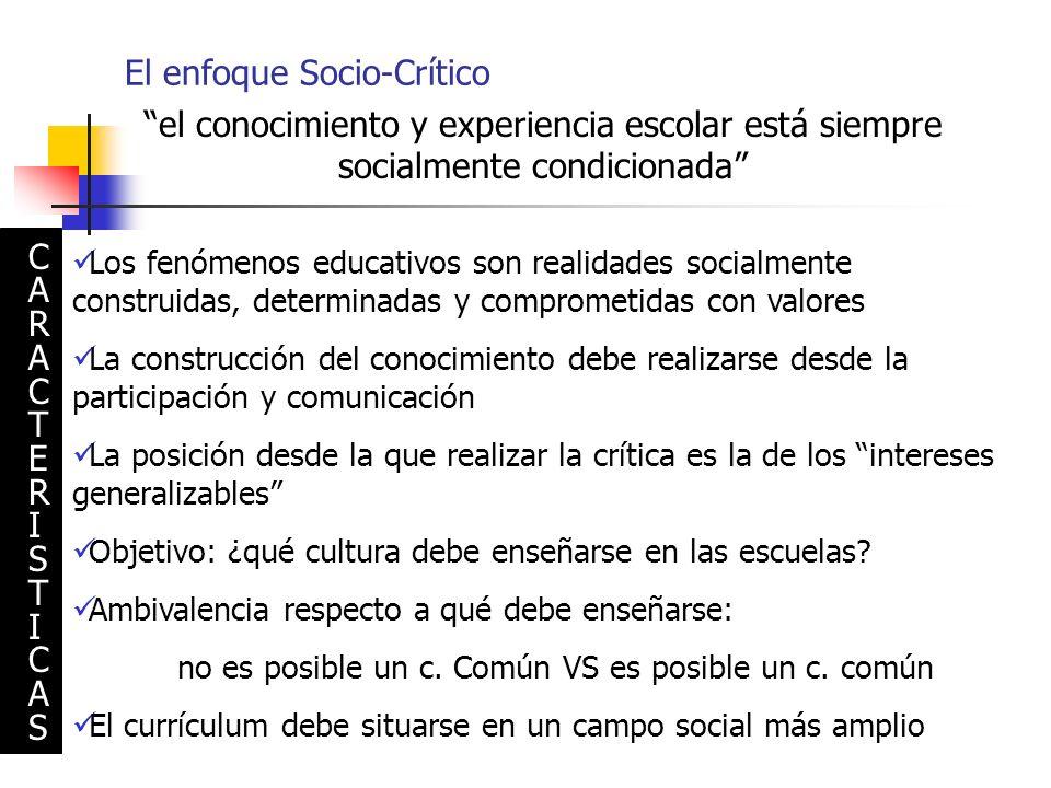El enfoque Socio-Crítico