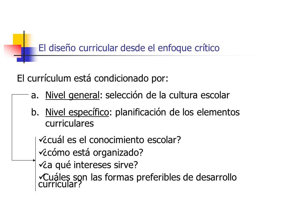 El diseño curricular desde el enfoque crítico