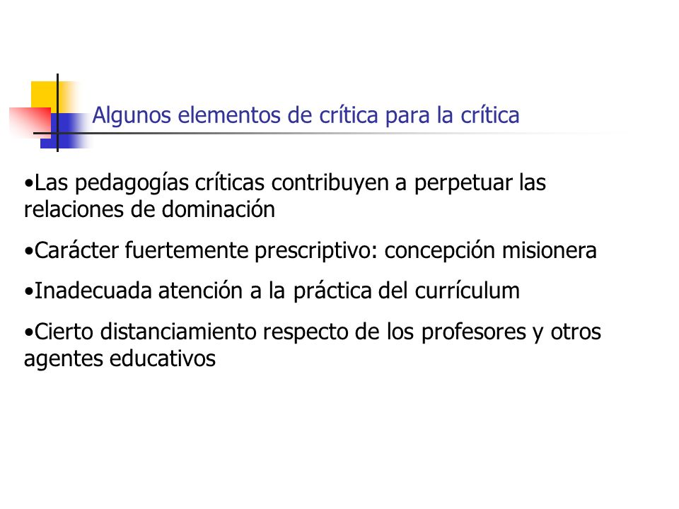 Algunos elementos de crítica para la crítica