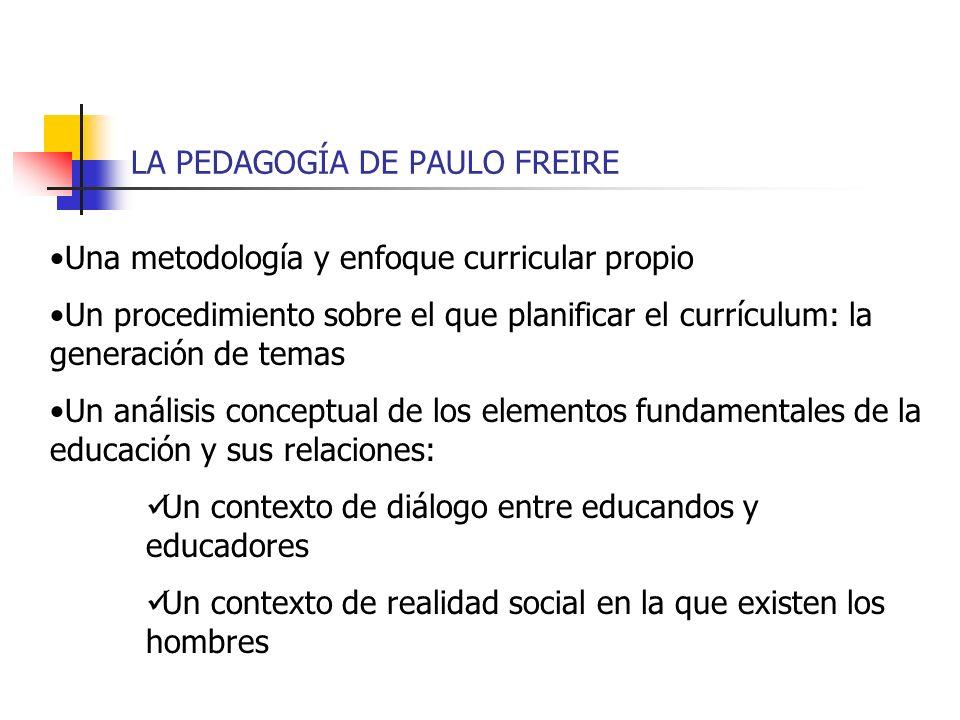 LA PEDAGOGÍA DE PAULO FREIRE