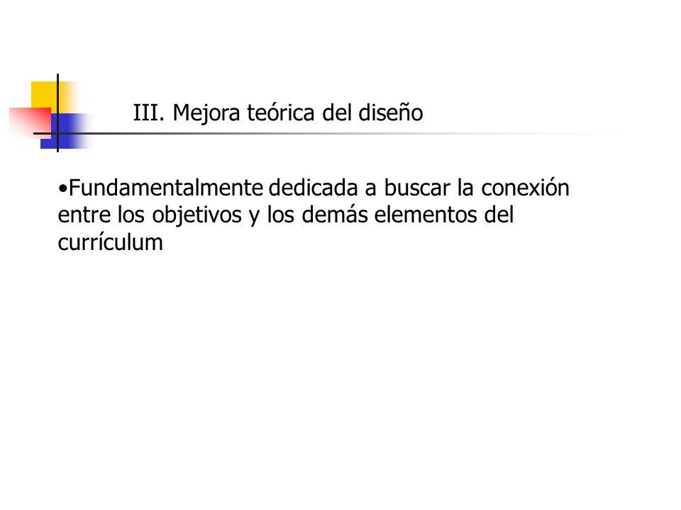 III. Mejora teórica del diseño
