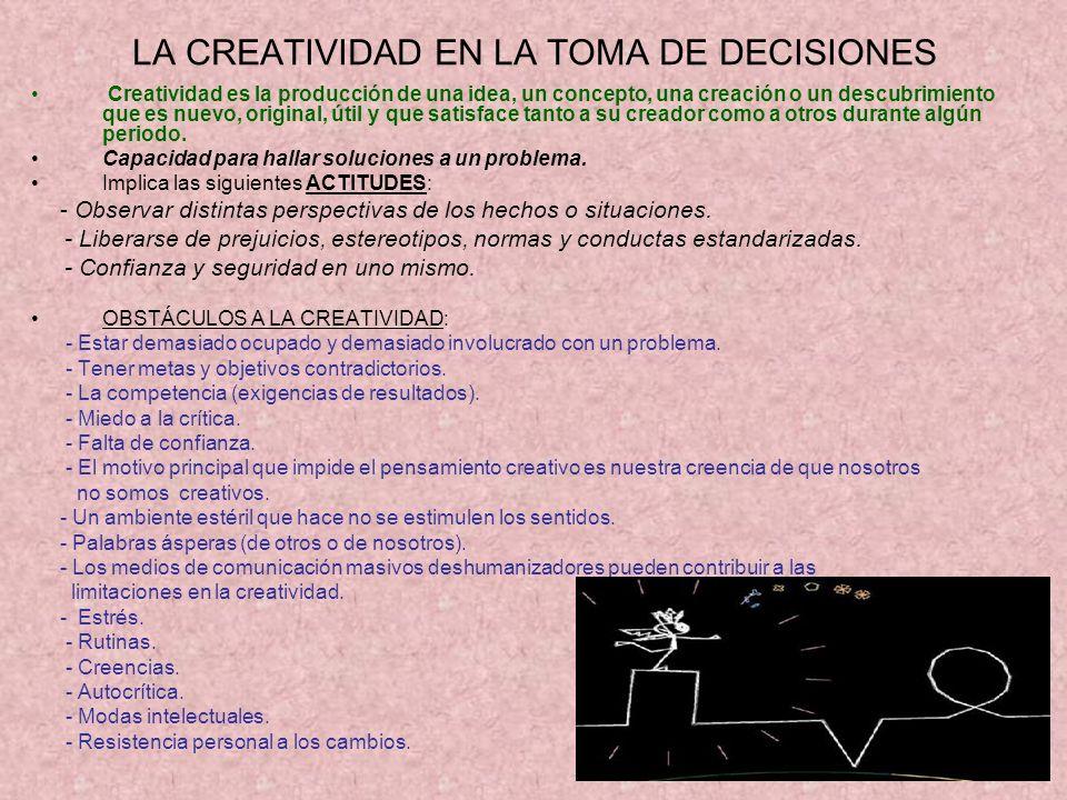 LA CREATIVIDAD EN LA TOMA DE DECISIONES