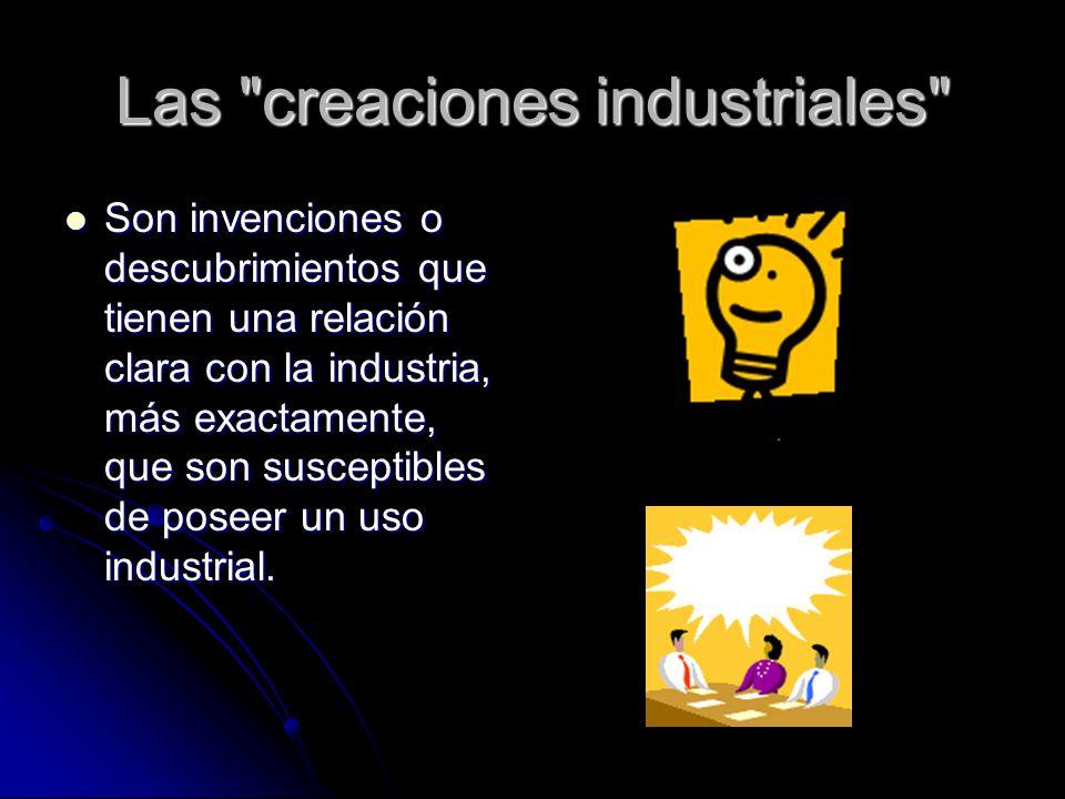 Las creaciones industriales