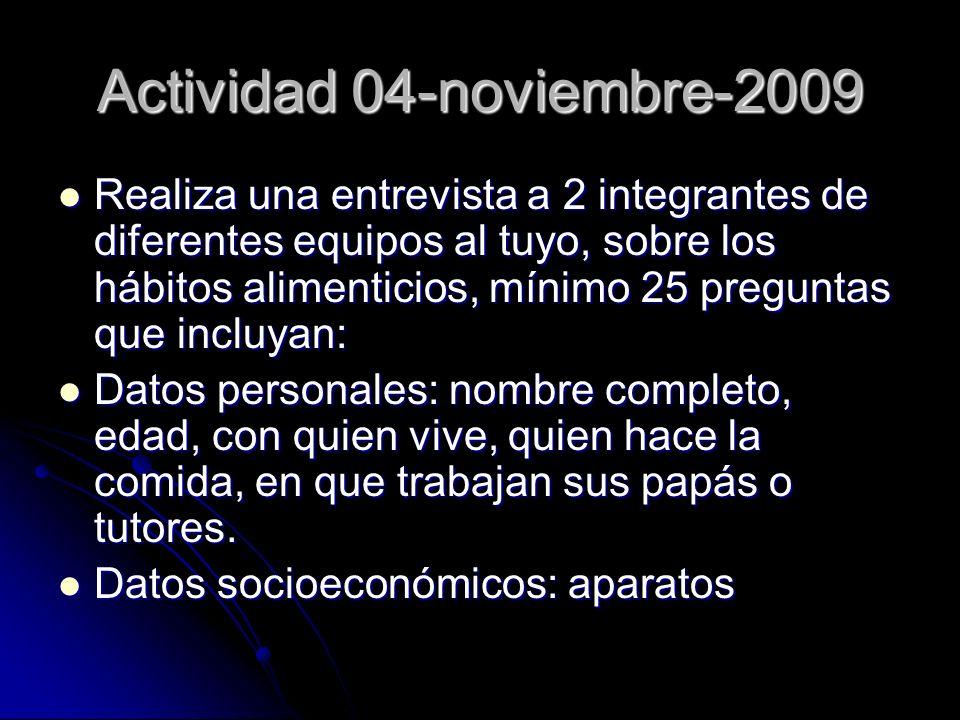 Actividad 04-noviembre-2009