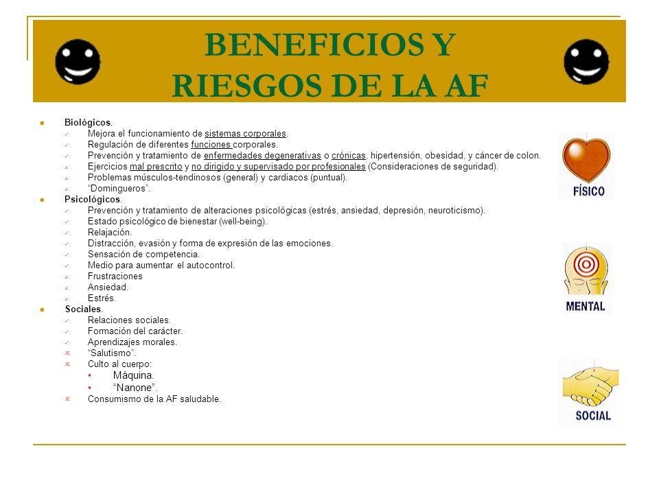 BENEFICIOS Y RIESGOS DE LA AF