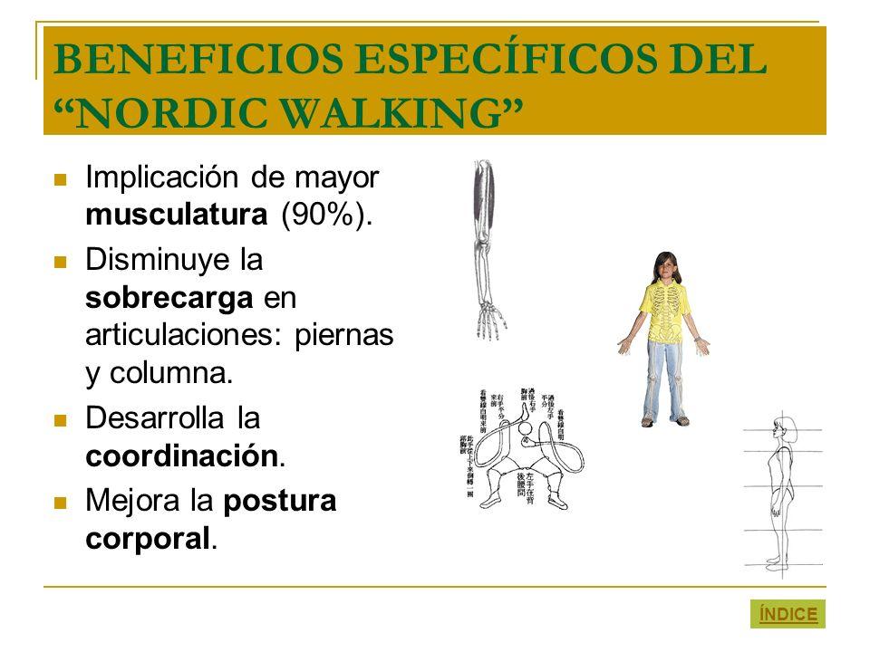 BENEFICIOS ESPECÍFICOS DEL NORDIC WALKING