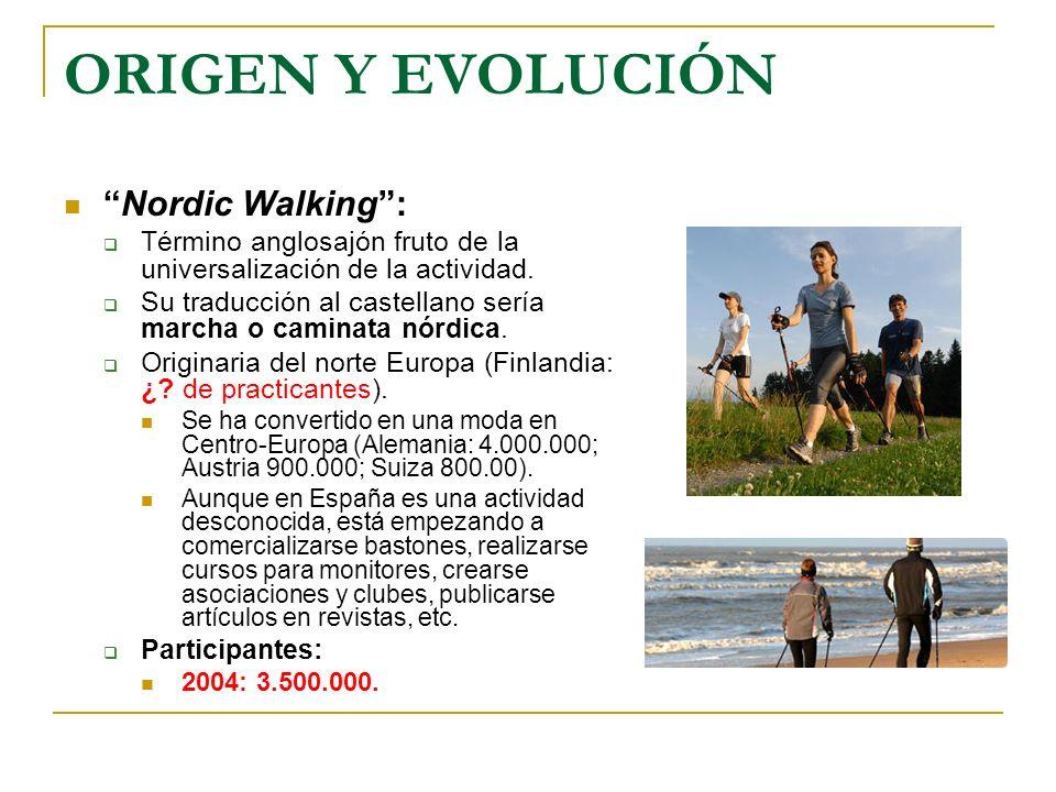 ORIGEN Y EVOLUCIÓN Nordic Walking :
