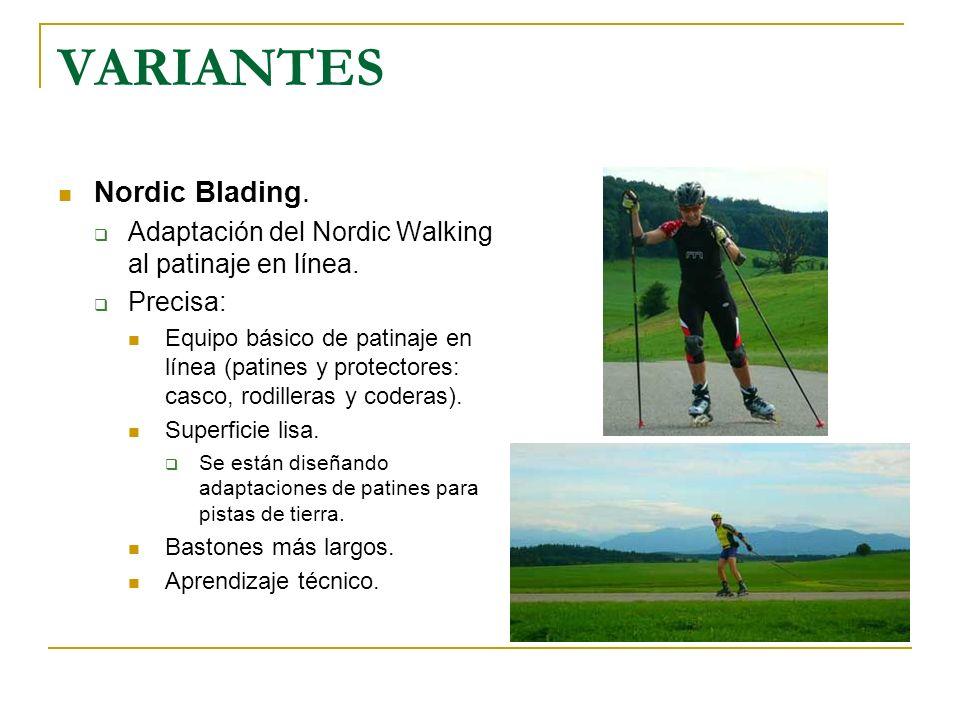 VARIANTES Nordic Blading.