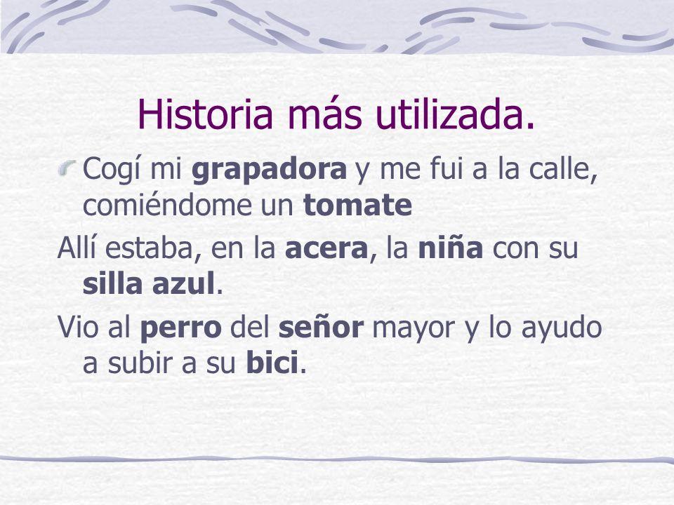 Historia más utilizada.