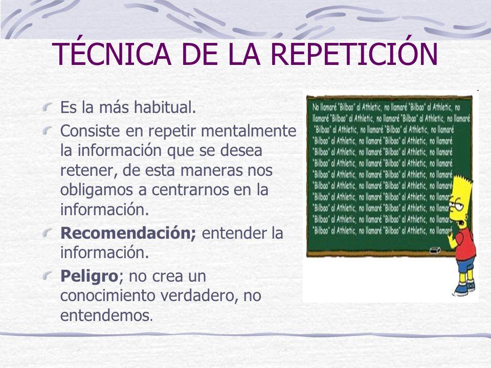 TÉCNICA DE LA REPETICIÓN