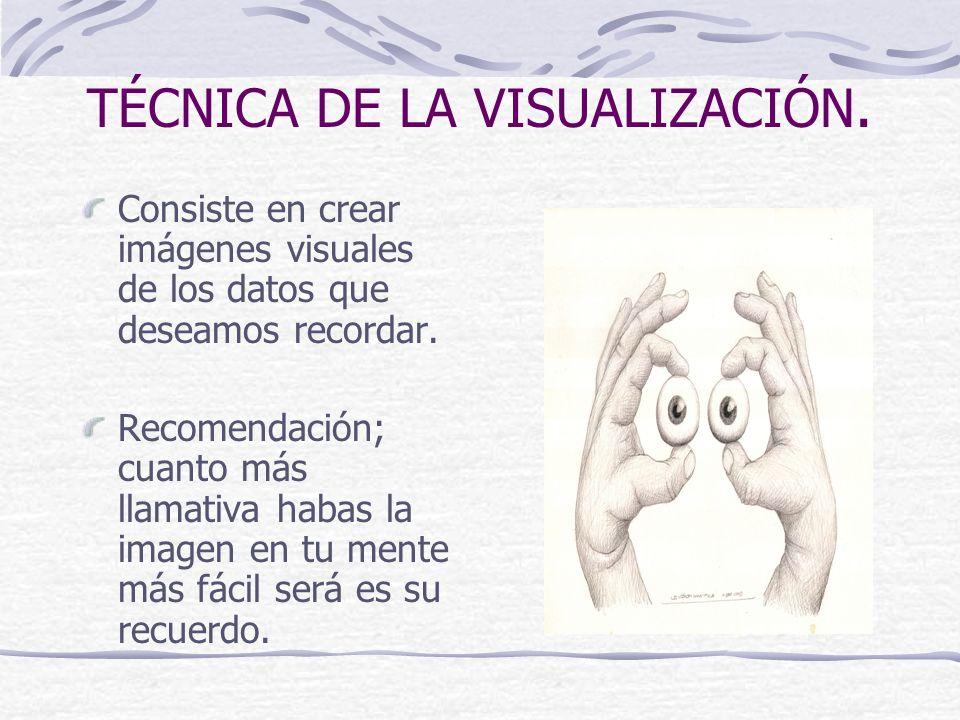 TÉCNICA DE LA VISUALIZACIÓN.