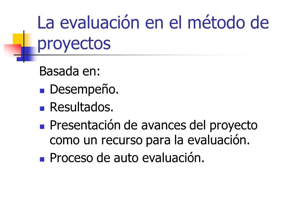 La evaluación en el método de proyectos