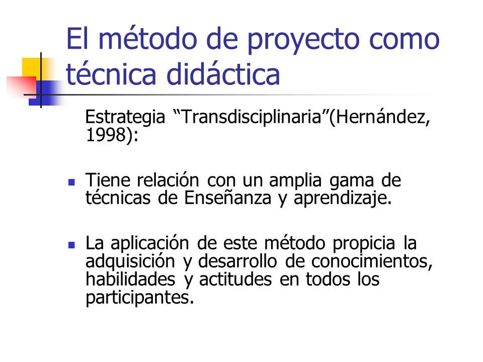 El método de proyecto como técnica didáctica