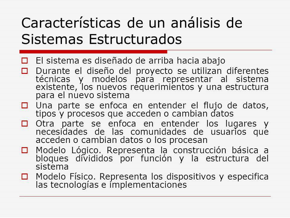Características de un análisis de Sistemas Estructurados
